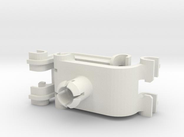 2X Whirlpool Dishwasher Upper Rack Clip, WP8268846 in White Natural Versatile Plastic