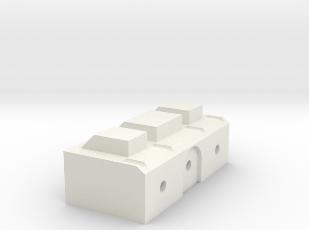 Back Block in White Natural Versatile Plastic