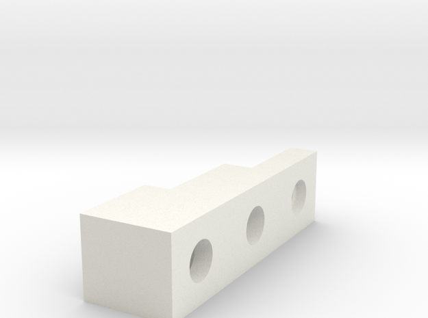 Front Block in White Natural Versatile Plastic