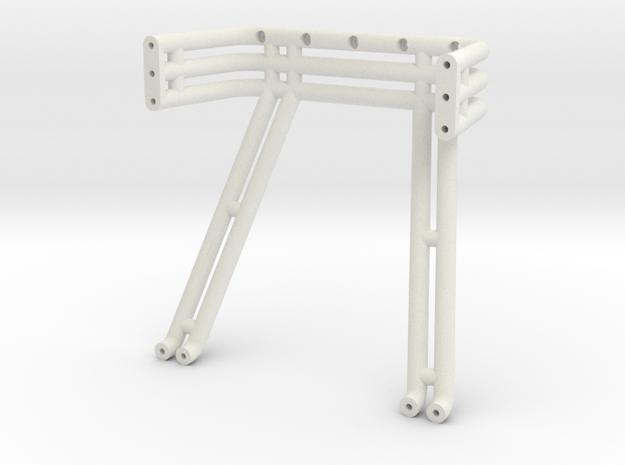 JConcepts, triple - double roll-bar fits #0415 197 in White Natural Versatile Plastic