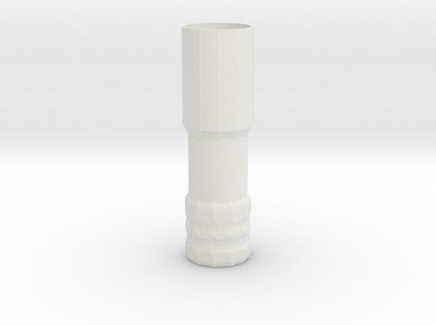 PE Barrel Tip Shorty in White Natural Versatile Plastic