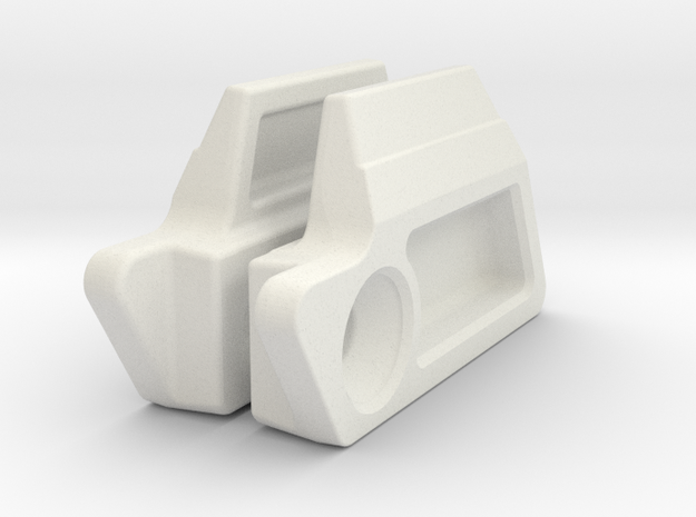 MG100 Eye Covers in White Natural Versatile Plastic