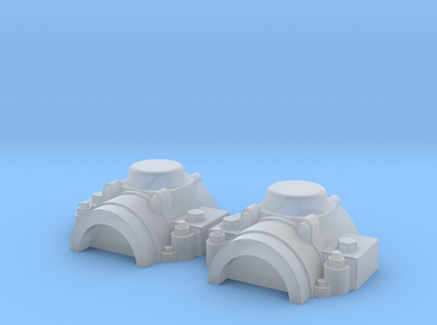 Entex half-cylinders in Smooth Fine Detail Plastic