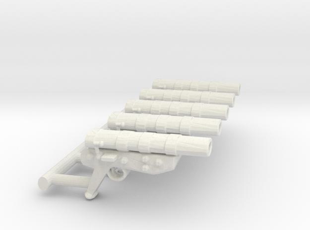 Mortar Pistol Set in White Natural Versatile Plastic