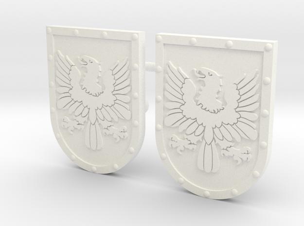 AVEZEDO SHIELD #2X2 in White Processed Versatile Plastic
