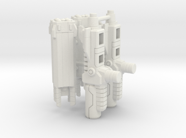 Seeker Missile Pods in White Natural Versatile Plastic