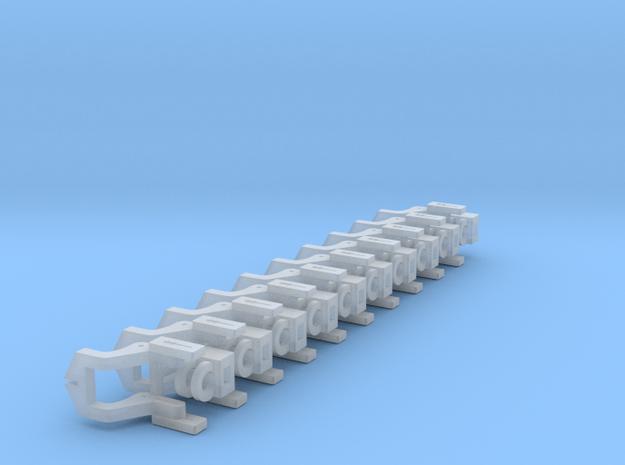 Crossing Gate N (1/160) Mechanism 5 Pairs in Smooth Fine Detail Plastic