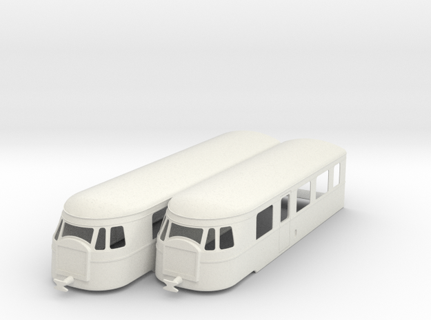 bl19-billard-a150d2-artic-railcar in White Natural Versatile Plastic