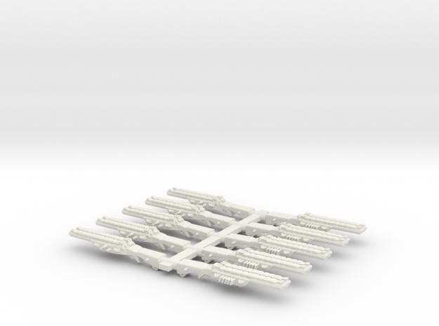 Shot Gun Dual SET in White Natural Versatile Plastic