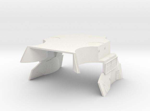 1/100 IJN Yamato Deck Below Funnel Part 2 in White Natural Versatile Plastic