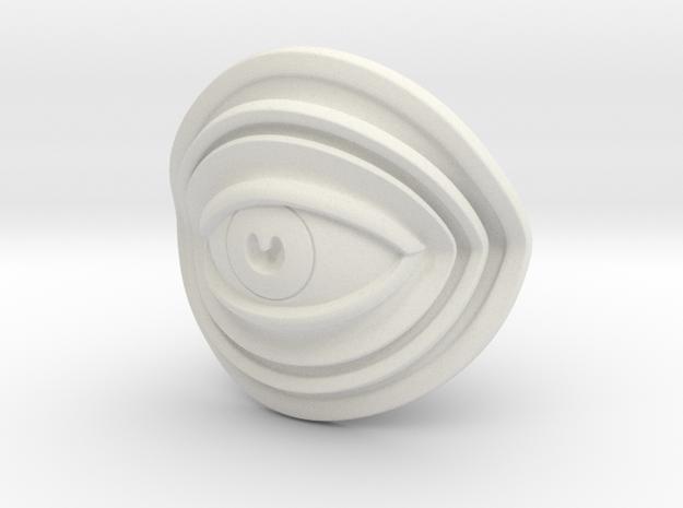 Eye Mini in White Natural Versatile Plastic