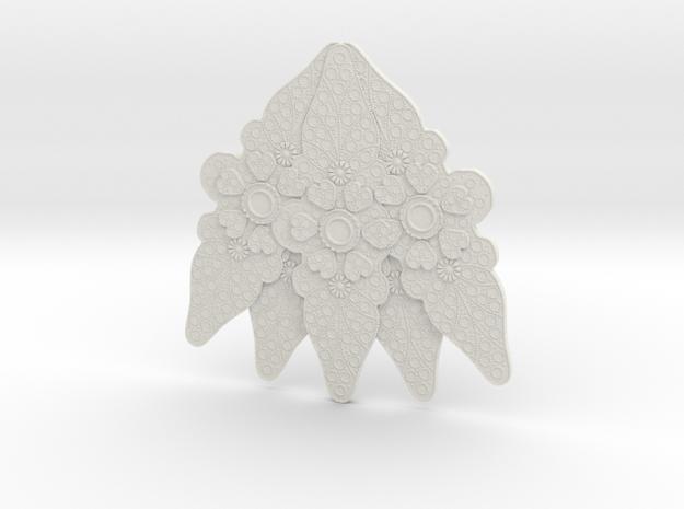 Padme Purple Senate central brooch in White Natural Versatile Plastic