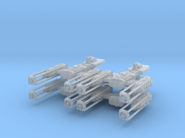 1/350 Y-Wing  Four Pack in Smooth Fine Detail Plastic