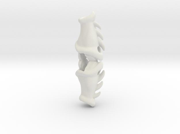 Drakkon Evo 2 Forearms LC  in White Natural Versatile Plastic