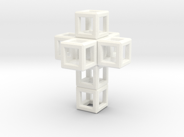 SCULPTURE Cross 40 mm Fits in HyperCube Stand  3d printed