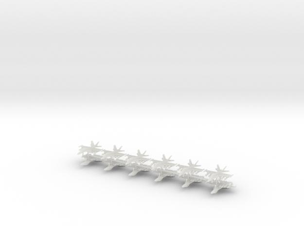 1/600 F-18F Super Hornet (Strike Loadout) (x12) in Smooth Fine Detail Plastic