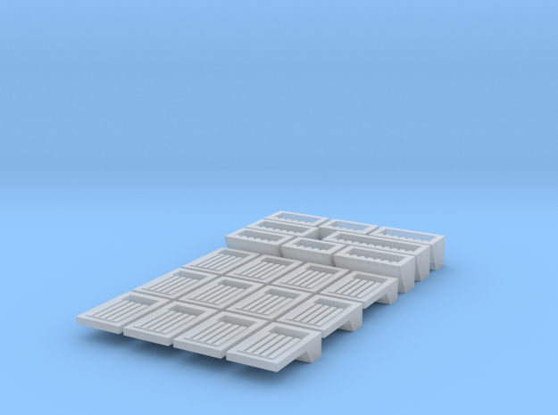 Docking Bay - wall drains, 1:72 in Smooth Fine Detail Plastic
