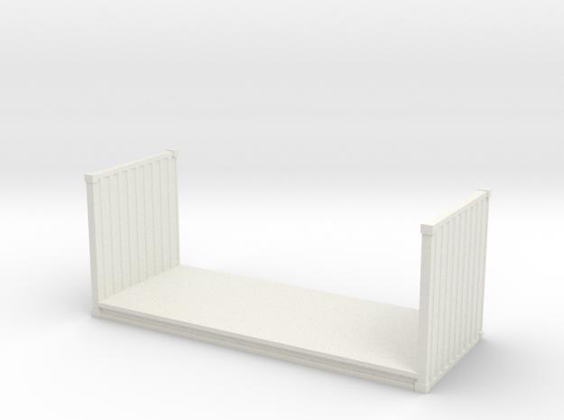 20ft Flatrack Container 1/72 in White Natural Versatile Plastic