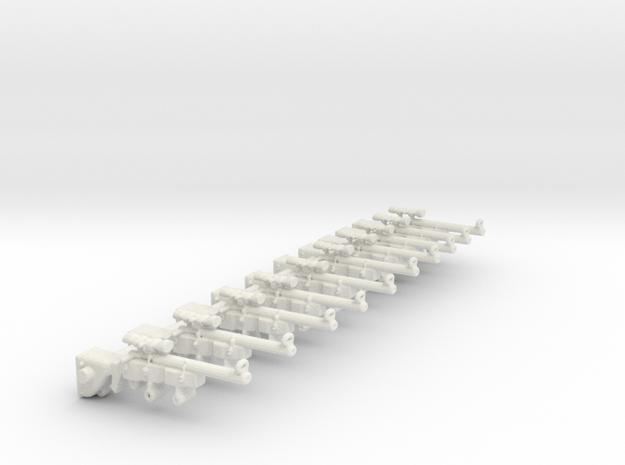 SniperRifle82AstralianSET10 in White Natural Versatile Plastic