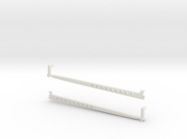 1/8 scale Radius Arm option 2 in White Strong & Flexible