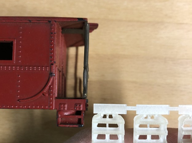 S scale LV Caboose Steps