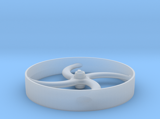 Curved Four Spoke Pulley in Smooth Fine Detail Plastic