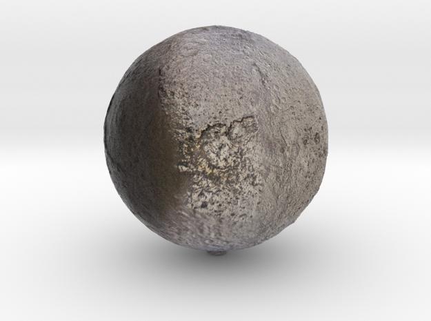 "Iapetus /12"" Moon globe addon in Natural Full Color Sandstone"