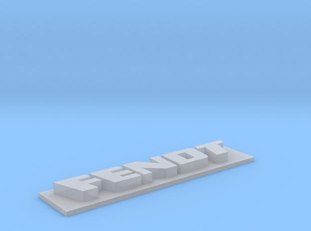 Fendt-Schild für Kotflügel ML-Tec Fendt 1050 in Smoothest Fine Detail Plastic