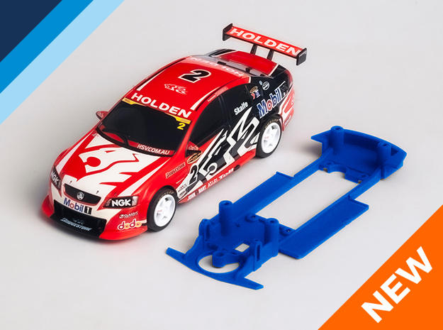 1/32 Scalextric V8 Holden Commodore VE/VF Chassis in White Natural Versatile Plastic