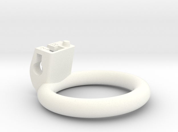 Cherry Keeper Ring - 38mm Flat -2° in White Processed Versatile Plastic