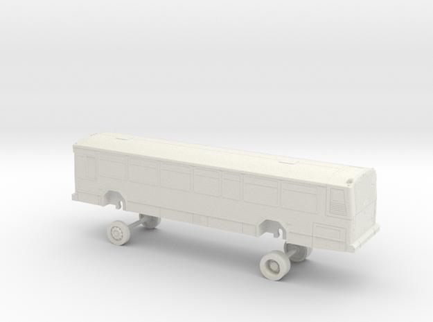 HO Scale Bus Gillig Phantom Academy of Art 4200s in White Natural Versatile Plastic