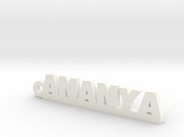 ANANYA_keychain_Lucky in White Processed Versatile Plastic