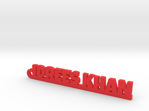 IDREES KHAN_keychain_Lucky in Red Processed Versatile Plastic