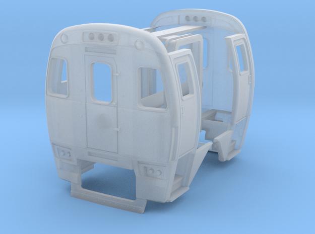 HO SPV-2000 End Set Amtrak Version in Smooth Fine Detail Plastic