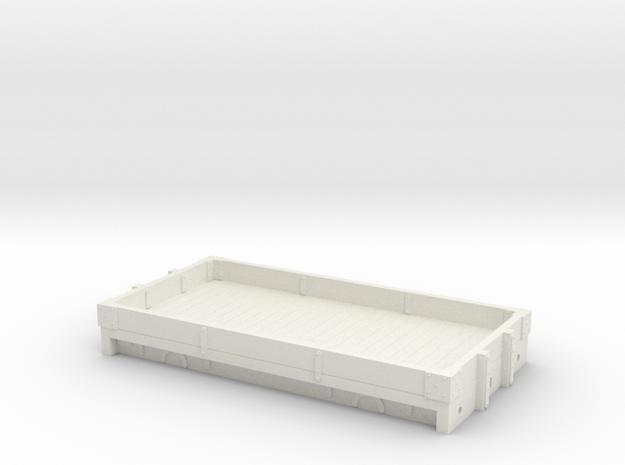 FR-NSR 1 plk 4mm in White Natural Versatile Plastic