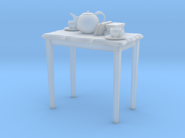 table with tea and books in Smooth Fine Detail Plastic