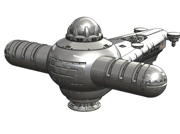 200mm Harkonnen Frigate (Dune 1984) in White Natural Versatile Plastic