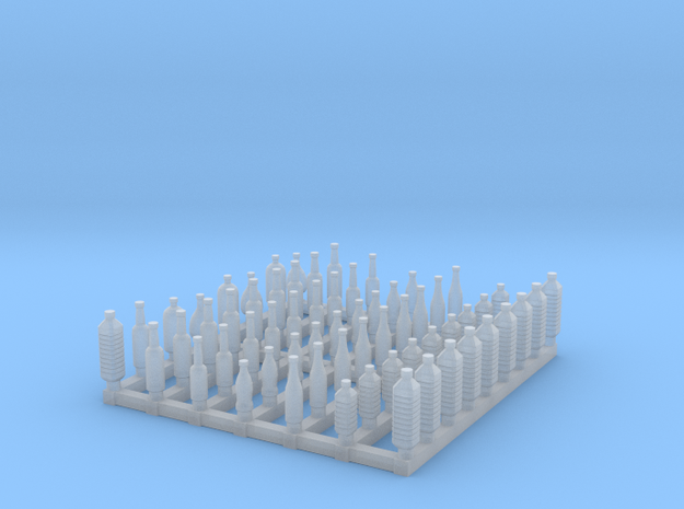 Bottles 1/56 scale in Smooth Fine Detail Plastic