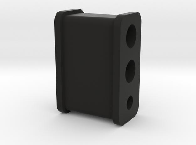 Fuel Line Insulator - 3 hole in Black Natural Versatile Plastic