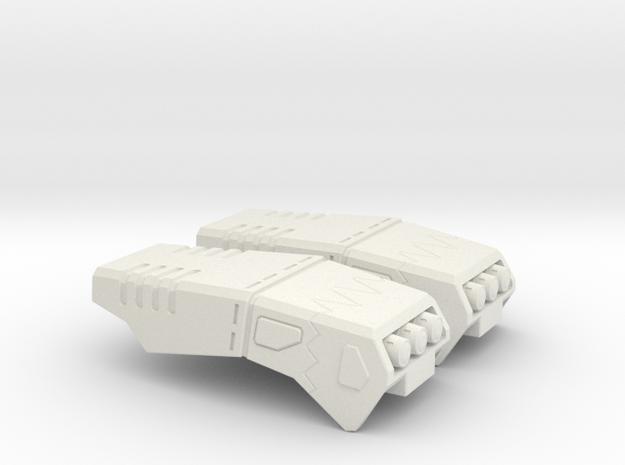 POTP SS GBP Armor - Arm missle launchers in White Natural Versatile Plastic