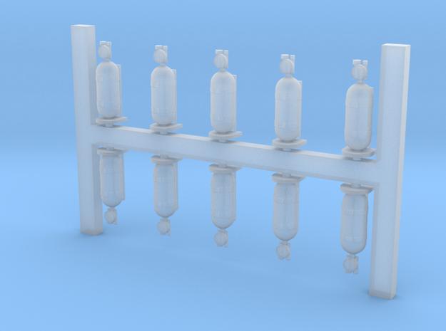 Oxygen Bottles 1/32 in Smoothest Fine Detail Plastic