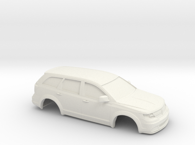 1/32 2009 Dodge Journey in White Natural Versatile Plastic
