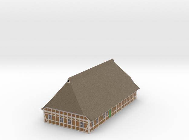 1/300 North German Timberframe Farm House - Brick in Full Color Sandstone