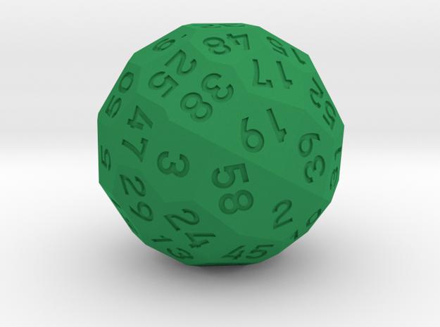 d58 Dice in Green Processed Versatile Plastic