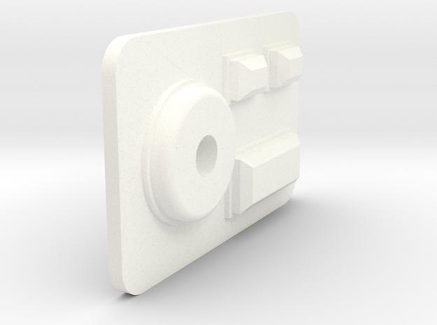 PRHI Star Wars Kenner Gonk Droid 3D Face in White Processed Versatile Plastic