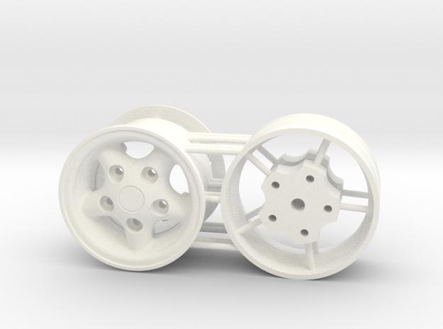 Land Rover 1.55 rim in White Processed Versatile Plastic: 1:10