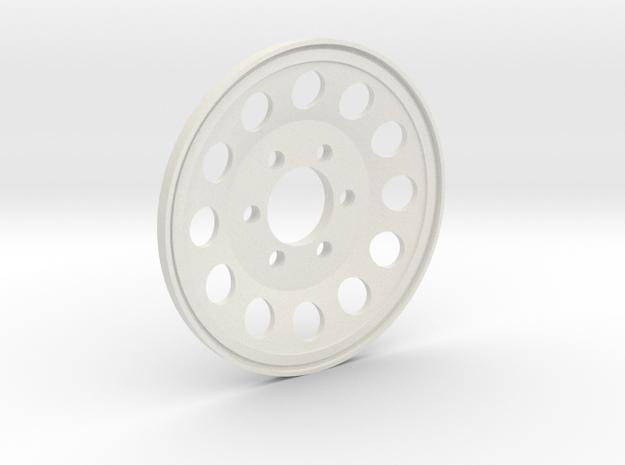 GCM 1.9 BLANK - 12 Hole 6Lug in White Natural Versatile Plastic
