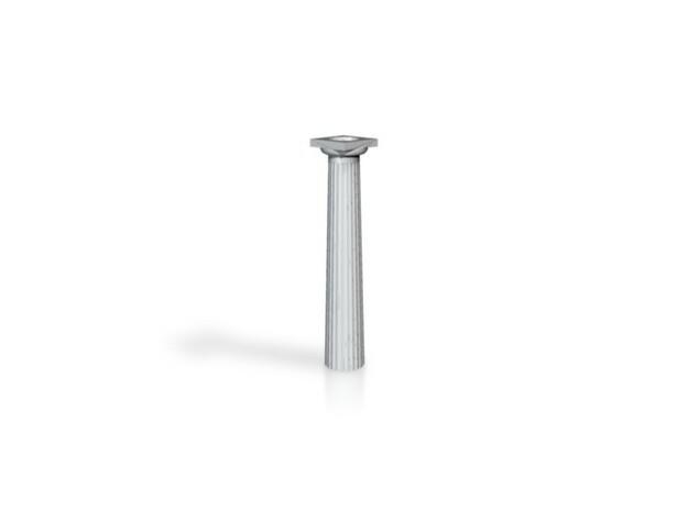 3cm Doric Column - hollow core - Hollow plinth and 3d printed