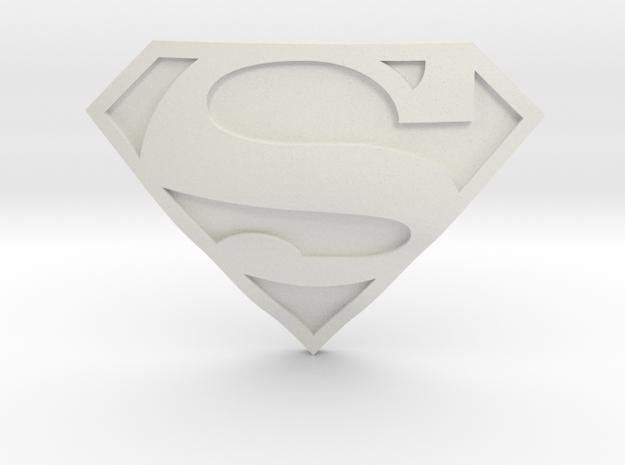 Superman Symbol | CCBS Range in White Natural Versatile Plastic