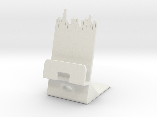 Smartphone Charging Station City ed in White Natural Versatile Plastic